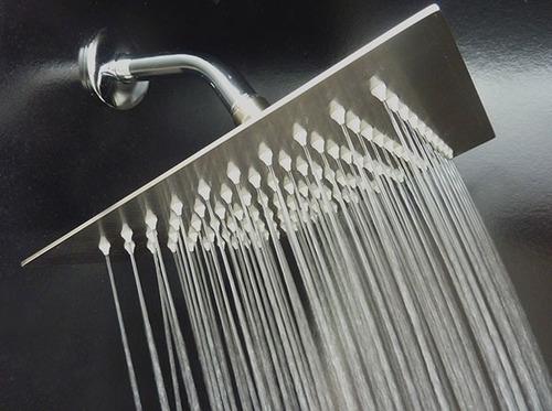 regadera ducha acero ultra slim 8  (20cm) cuadrada+brazo30c