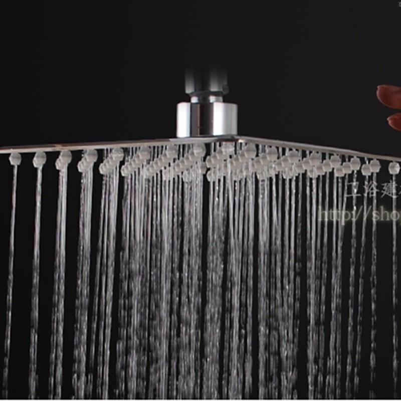 Regadera ducha cuadrada de techo telefono tina 8 12 dh for Ducha de lluvia techo