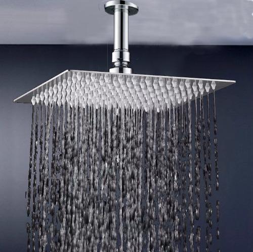regadera, ducha metálica lujo 30cm x 3 unidades tipo-lluvia