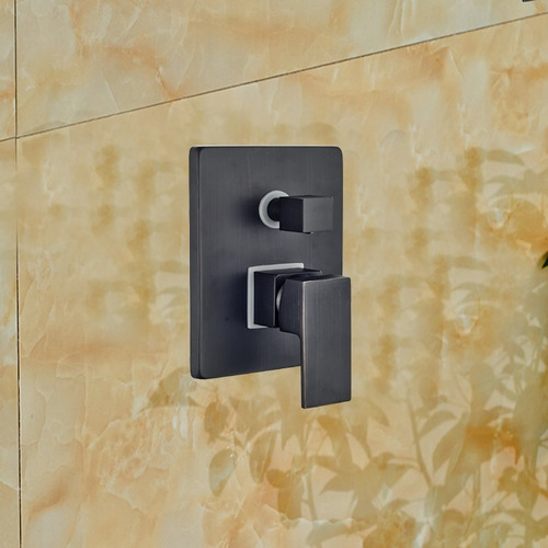 regadera ducha negra led monomando pared 30cm led 8a12 dh