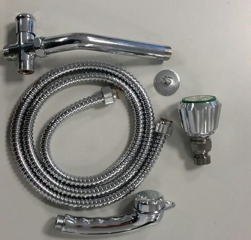 regadera fp kit america (desviador, ducha telef y manguera)
