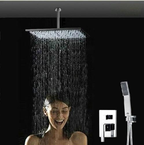 Regadera lluvia de 40cm x 40cm mezcladora ducha de mano for Griferia mezcladora ducha