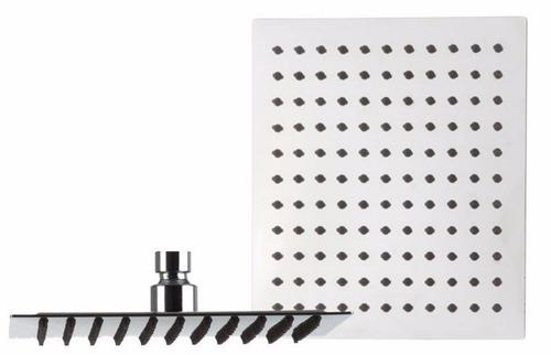regadera metálica cuadrada 20 cms-cromo incluye tubo
