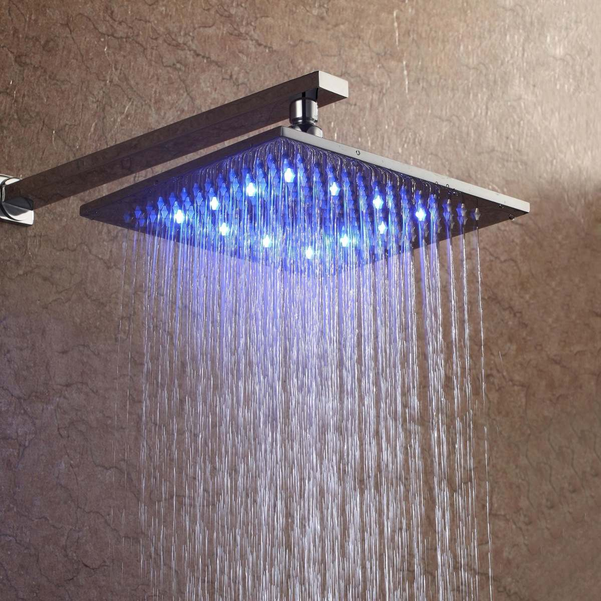 Regadera moderna cambia de color ducha con led 2 925 for Precio de regaderas