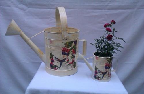 regaderas floreros vintage,centros de mesa,mesa dulces bases