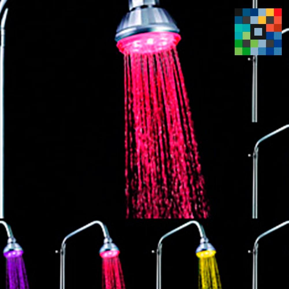 Regaderas led agrega luz a tu ba o color m ltiple for Regaderas mercado libre
