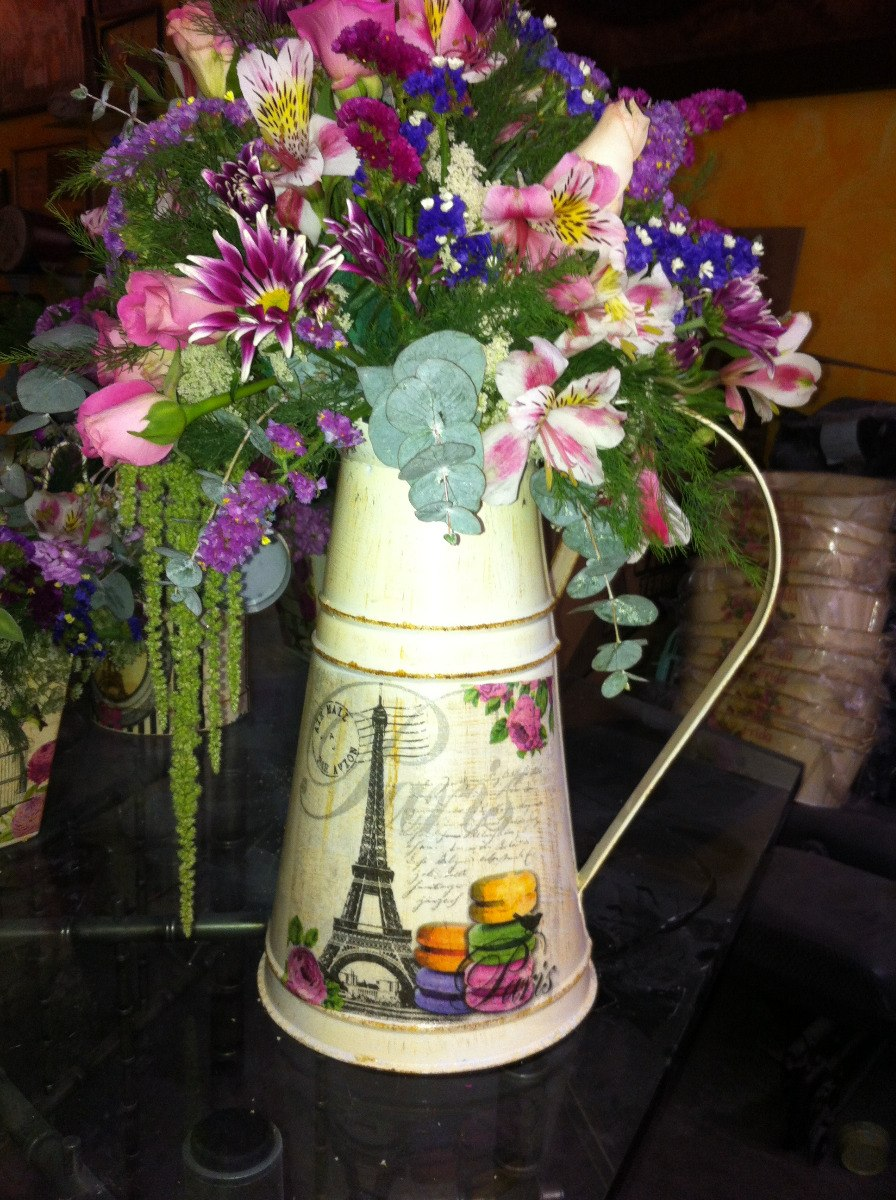 Regaderas vintage floreros centros jardin decorativas riego en mercado libre - Articulos de decoracion ...