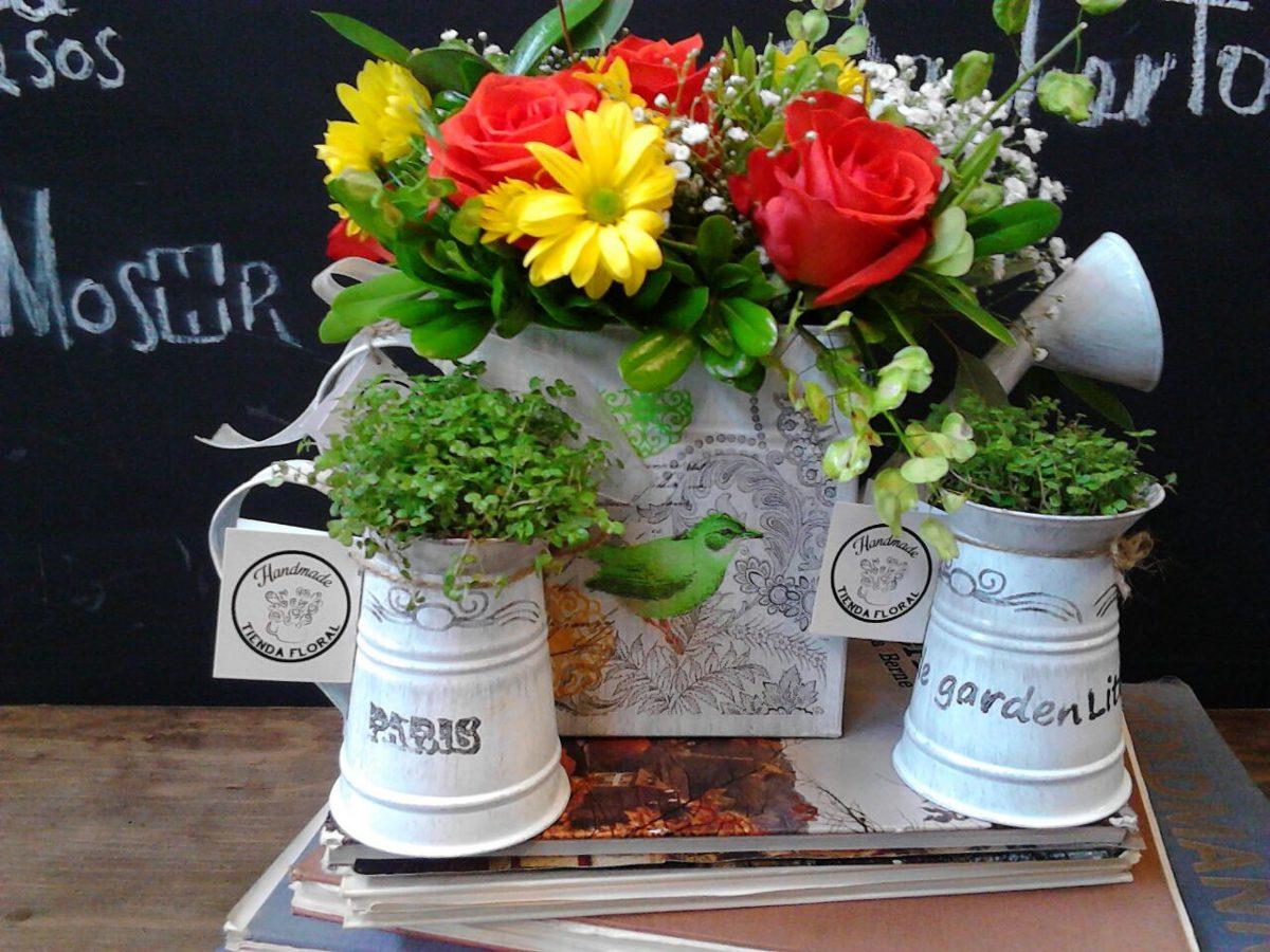 Regaderas vintage floreros jarras cubetas en for Regaderas mercado libre