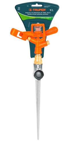 regador truper 12mt metálico doble chorro estaca 20cm dos-11