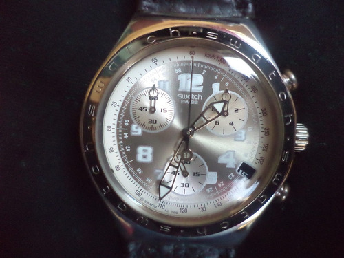 regale swatch irony chrono acero impecable hombre