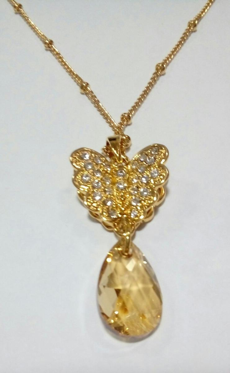 Regalo amor aniversario mujer mariposa oro 14k zircones for Regalo especial aniversario