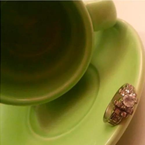 regalo anillo compromiso novia esposa vintage swarovski elem