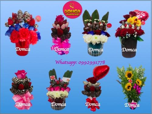 regalo arreglo florales frutales sangolqui detalle chocolate