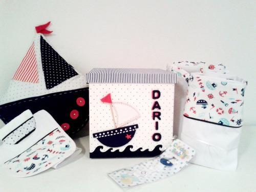 regalo bebé ajuar nacimiento 7 art. caja c/sabana y frazada