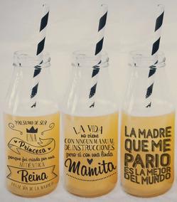Botellas Vidrio Con Frase Vajilla Y Artículos De Servir En