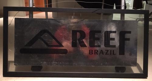 regalo cuadro reef marco negro y vidrio 70x32x2cm