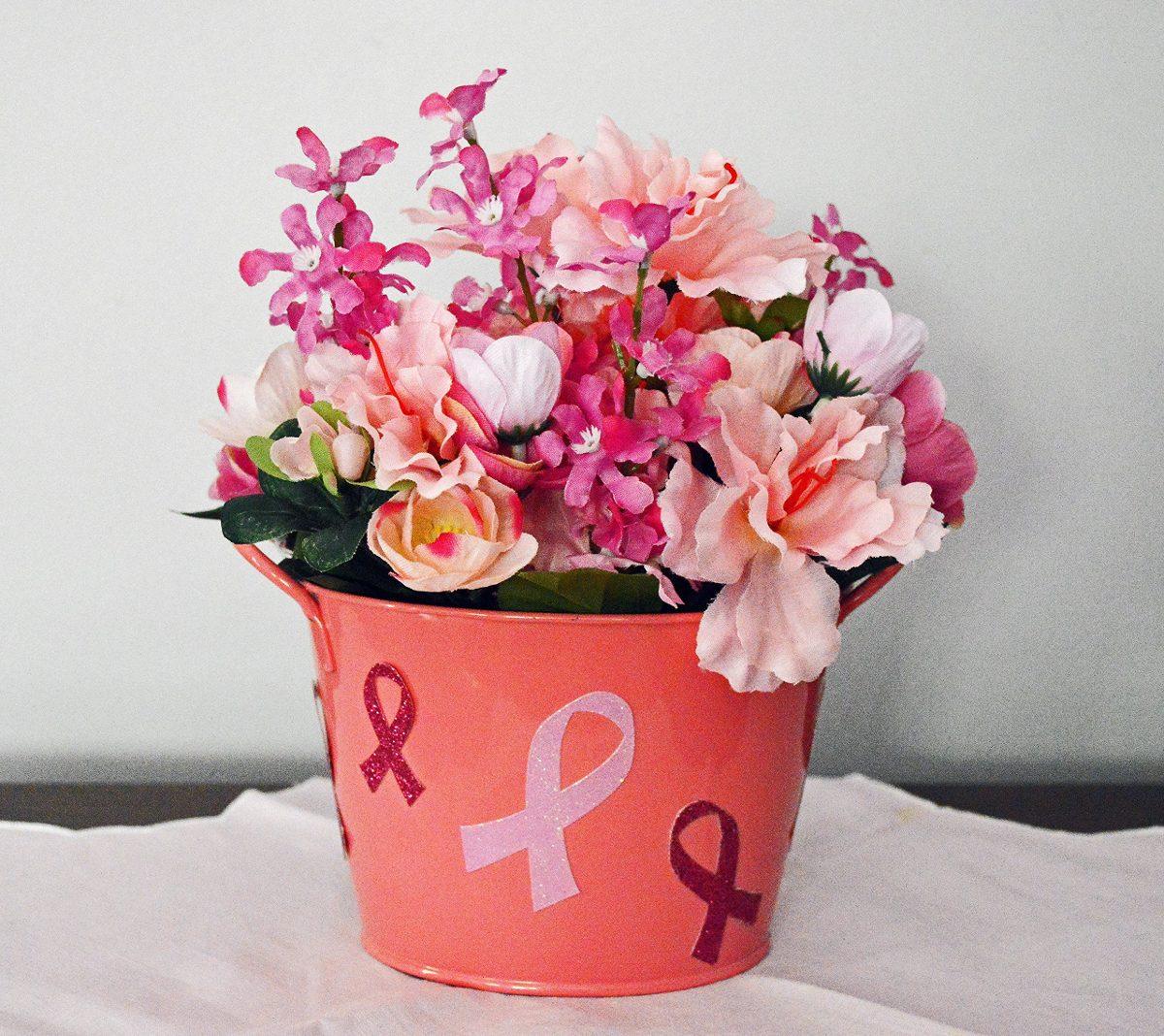 Regalo De Cáncer De Mama Arreglo Floral Decoración De La Me