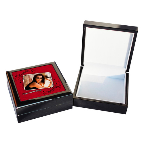 regalo día de la madre joyero de madera con fotografia
