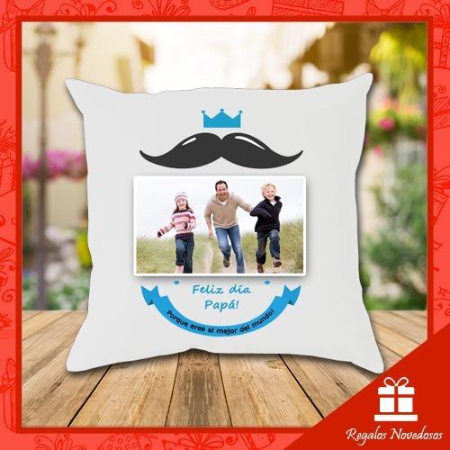 regalo dia del padre cojin y taza personalizados con foto