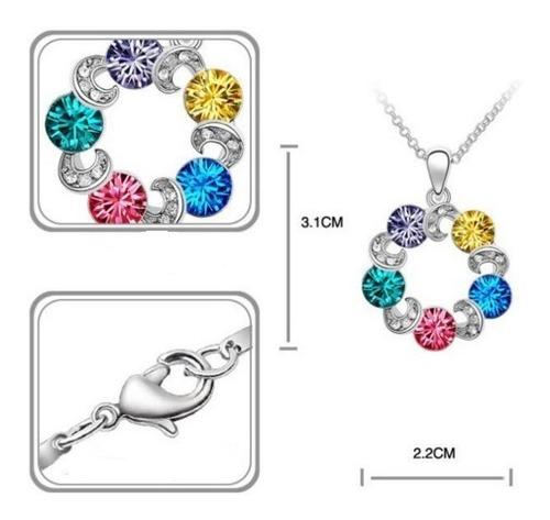 regalo dije collar aretes cristal swarov elements evento