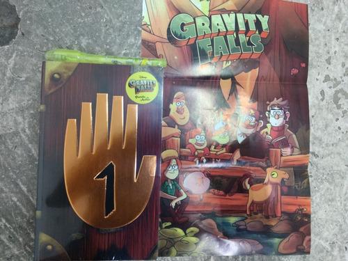 regalo+ gravity falls diario 1 a color + lampara uv+ pluma