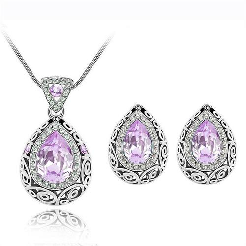 regalo mamá amor set cristal austriaco swarovski elements