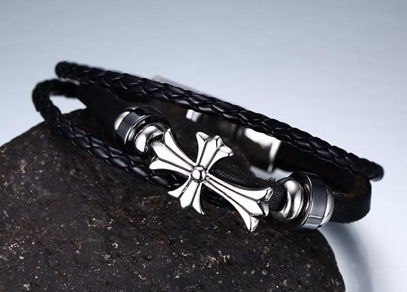 2b387d791e50 regalo papá hombre novio elegante esclava cruz cuero envío. Cargando zoom.