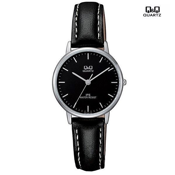 dfa361f0d Regalo Para Hombre Reloj Cuero Negro Q&q Original S/n - S/ 59,99 en ...