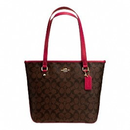regalo para mama!!!!! bolsa coach zip tote in signature