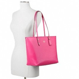 regalo para mama! coach city zip tote in crossgrain leather