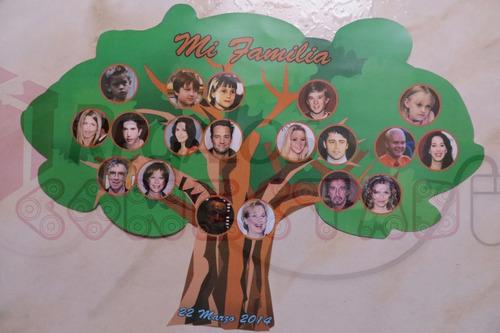regalo para mamá magnetico arbol genealogico personalizado