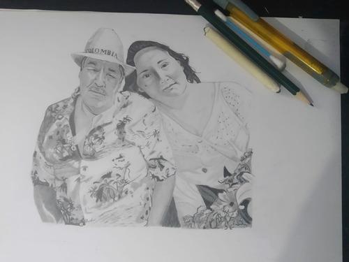 regalo para parejas familia y amigo, retratos realistas!!
