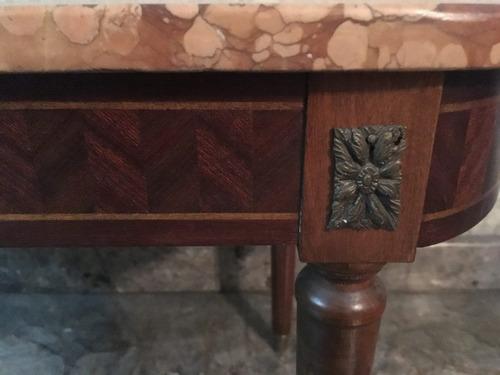 regalo!mesa antigua en marmol rossa verona y madera tallada