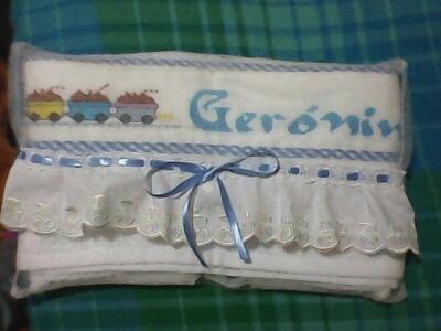 regalos para bebe, personalizados,toallas bordadas, bordados
