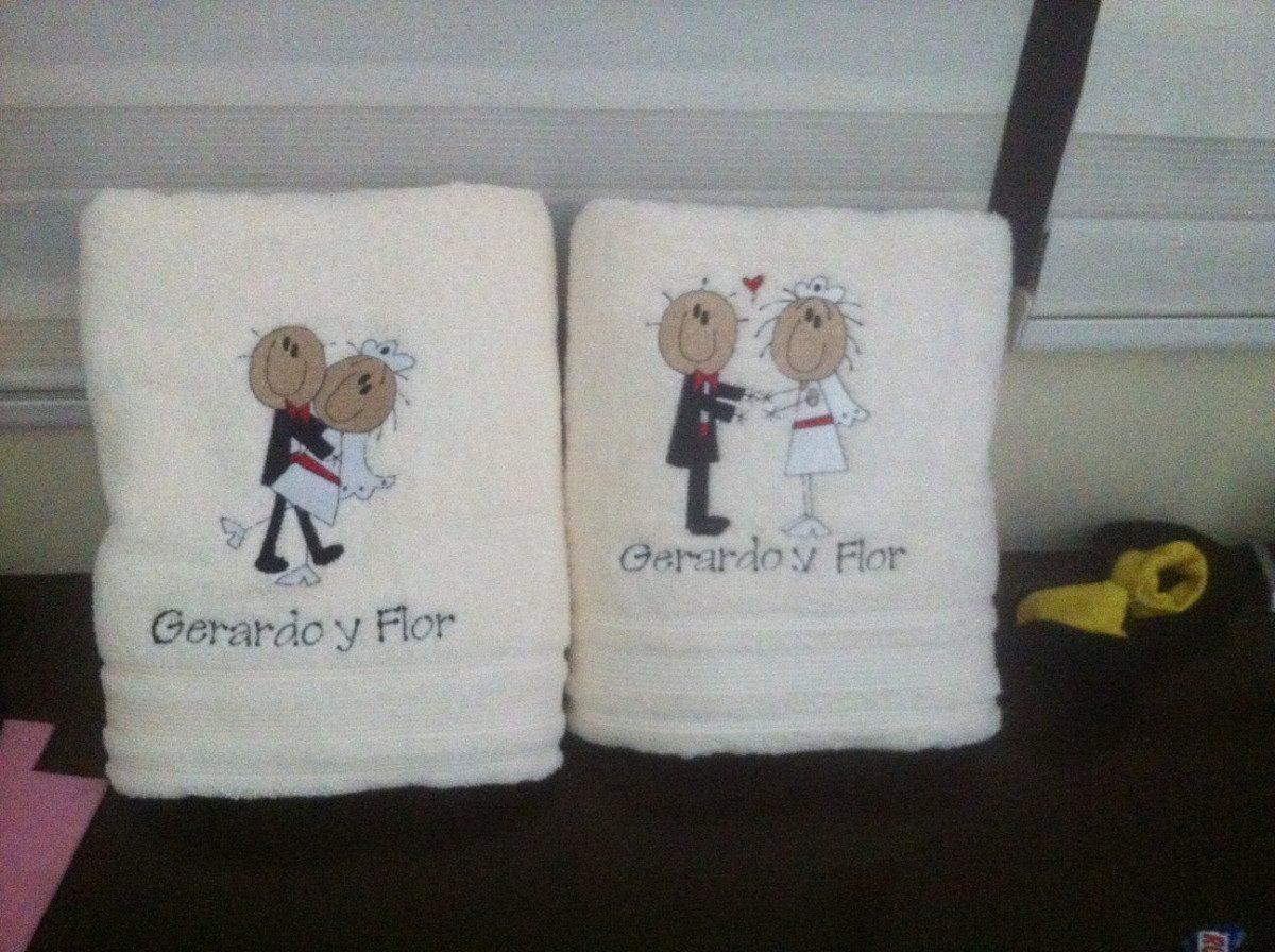 Regalos personalizados toallas de ba o bordadas desde 1 pza en mercado libre - Toallas para bano ...