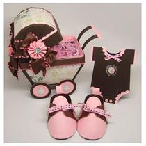 Kit Recuerdos Zapatitos Baby Shower Tarjetas Imprimibles ...