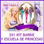 2x1 Kit Imprimible Barbie Scrapbook Marcos Imagenes Tarjetas
