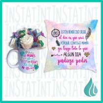 Regalo Dia De La Madre Taza, Cojin, Minicupcakes, Mama Amor