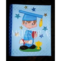 Carpetas Y Maletines Graduación Niños Niñas Graduados Foami