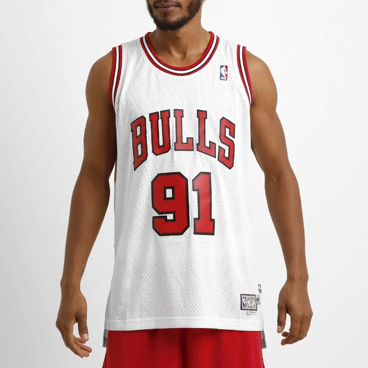 regata adidas nba retired chicago bulls  91 dennis rodman+nf. Carregando  zoom. eef772be07c