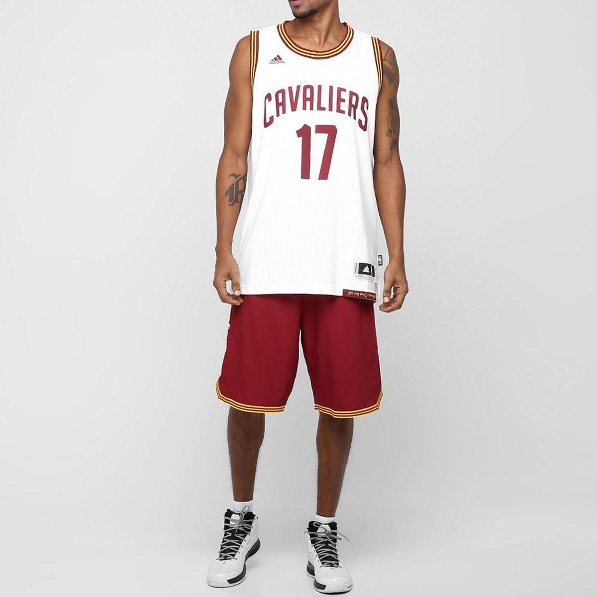 c4032fbc497 Regata adidas Swingman Nba Cleveland Cavaliers 17 Varejão Nf - R ...