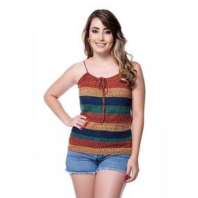 eb6533b190 Camiseta Regata De Alcinha Listrada - Calçados