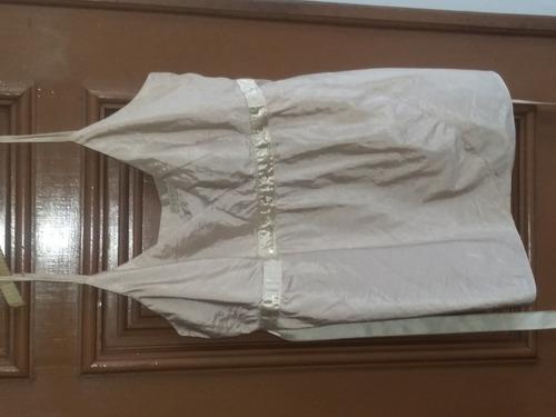 regata alcinha nude tafetá bordado faixa cetim verty p 40