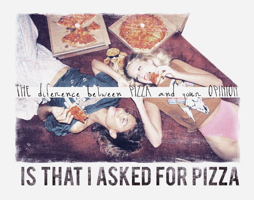regata asked for pizza