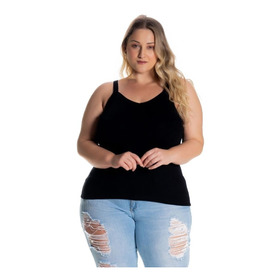 Regata Camisa Blusa Alcinha Basica Feminina Plus Size  1123