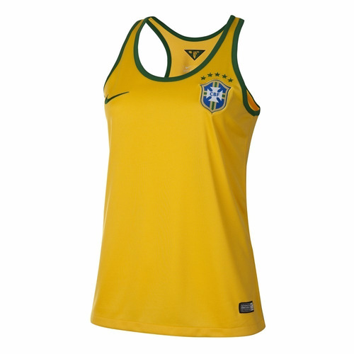 regata camisa brasil nike feminino stadium  dri fit cbf
