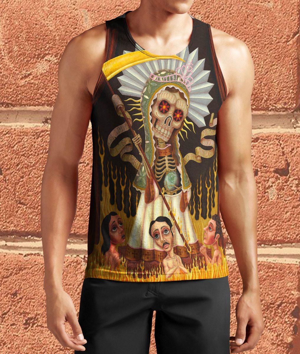 Regata Camisa Santa Muerte Tattoo Psicodelico 756