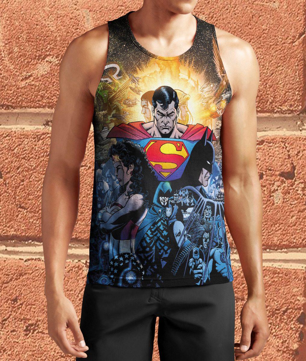 68147c5e0 Regata Camisa Superman Super Homem Heroi Dc 825 - R  35