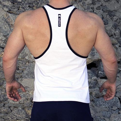 29bb0344b9450 Regata Cavada Fitness Masculina Esmaga Que Cresce Tmjfit - R  29