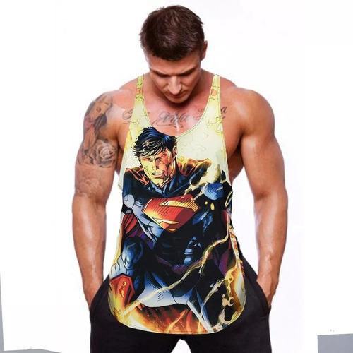 regata cavada heróis musculação academia - superman promoção